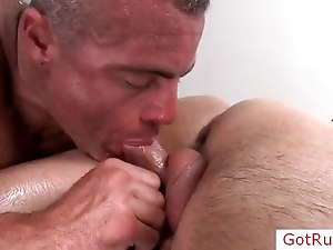 Dude gets his anus rimmed part4