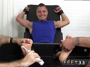 Squirt cum boy foot fetish gay Jock Tommy Tickle d