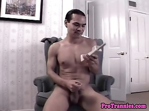 Glamorous transsexual drilled from behind