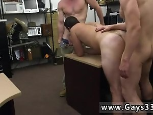 Sexy gay men grab straight bulge and using butt machine photo Straight