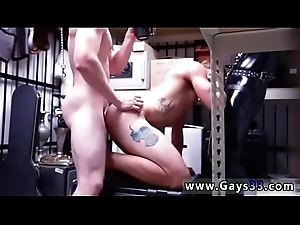 Straight college guys locker room gay Dungeon tormentor with a gimp