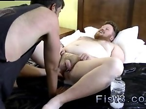 Sexy fisting gay Sky Works Brock s Hole with his Fist