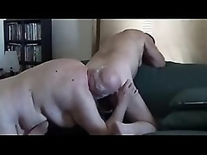 Grampa and Daddy ass eat and suck cock