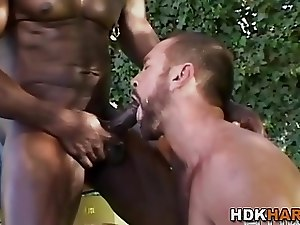 Black masseur barebacks