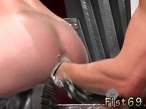 Hunk fist bondage video gay first time Mouths are swiftly filled with