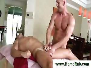 Straight guy milked after massage
