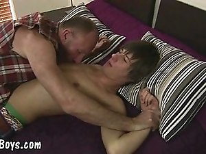 Hot gonzo scene from a horny Old vs Young gay couple